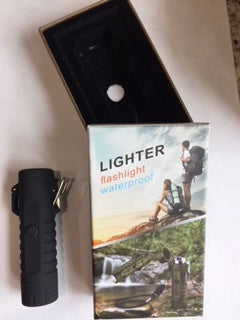 LED Flashlight USB LIghter Rechargeable Outdoor Camping Survival Waterproof Lighter