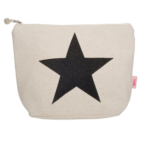 Canvas Star Cosmetics Bag (large)