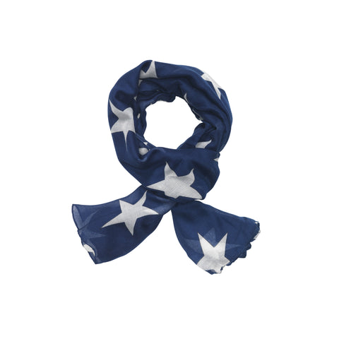 Star Scarf - Navy