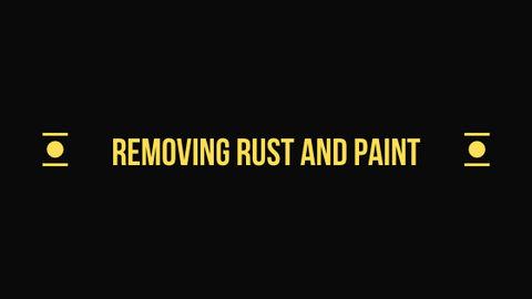 Removing rust and paint headline