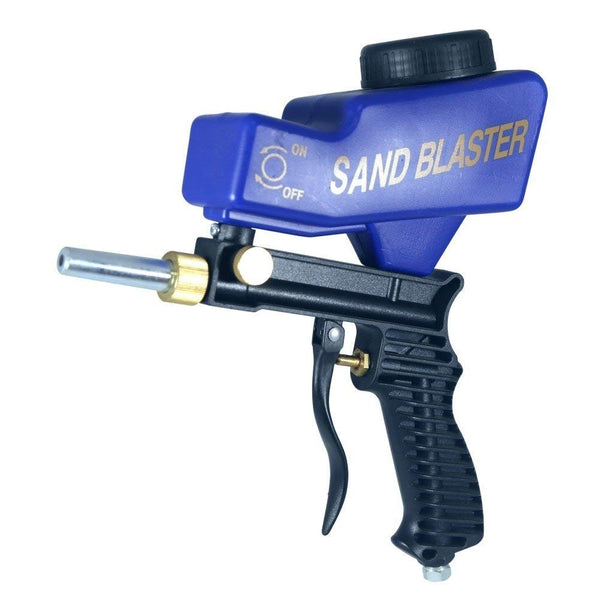 Handheld Portable Sandblaster Kit Blue