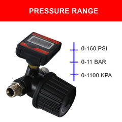 Digital Pressure Gauge | Air Compressor Regulator | Air Pressure Regulator Diaphragm Type by Lematec (DAR02B)