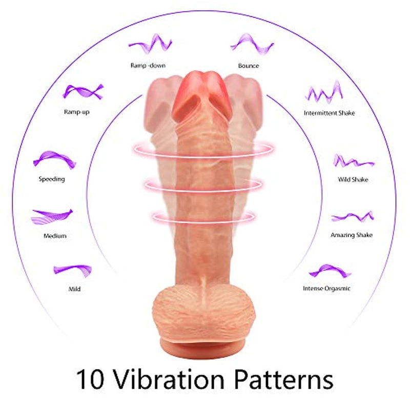 360° Whirling Vibration Dildo - Adult Toys