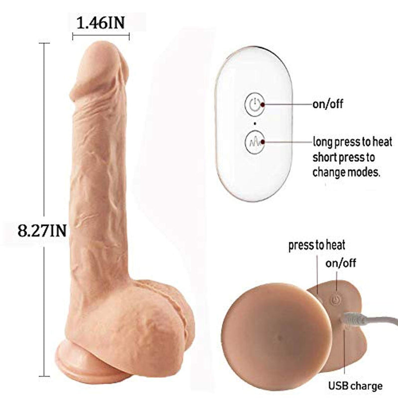 Automatic Vibrator Soft Realistic Huge Dildo Sex Toy Massager - Adult Toys