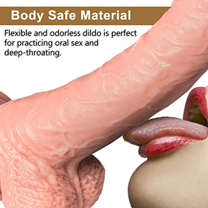 Dildo Silicone Penis For Women Dildo With Suction Realistic - Adult Toys