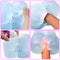Crystal Transparent Pocket Pussy Male Masturbation With Cock Ring - Adult Toys