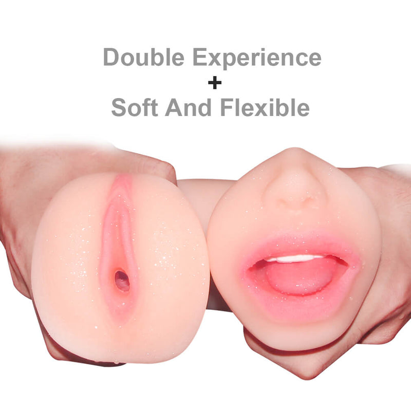 3D Real Pussy And Oral Pocket Pussy Double Use Masturbation - Adult Toy