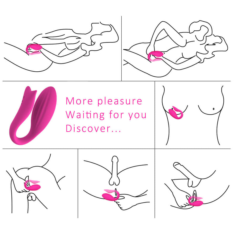 Remote Control Vibrator Wearable Mermaid Shape Sex Toy - Adult Toys