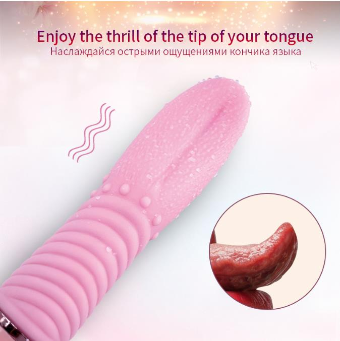 TSN Near-invisible Tongue Licking Clitoris Sex Toy Vibrator For Women - Adult Toys