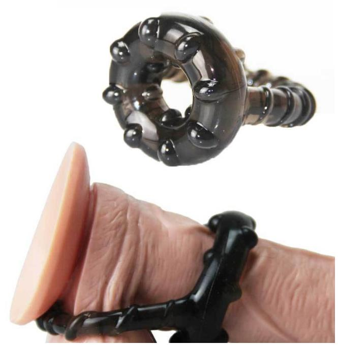 Triple Silicone Cock Ring For Men Delay Ejaculation Sex Toy - Adult Toys