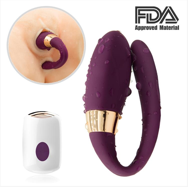 Wireless C Type Vibrator Dual Motors We-vibe G-spot Clitoris Massager - Adult Toys