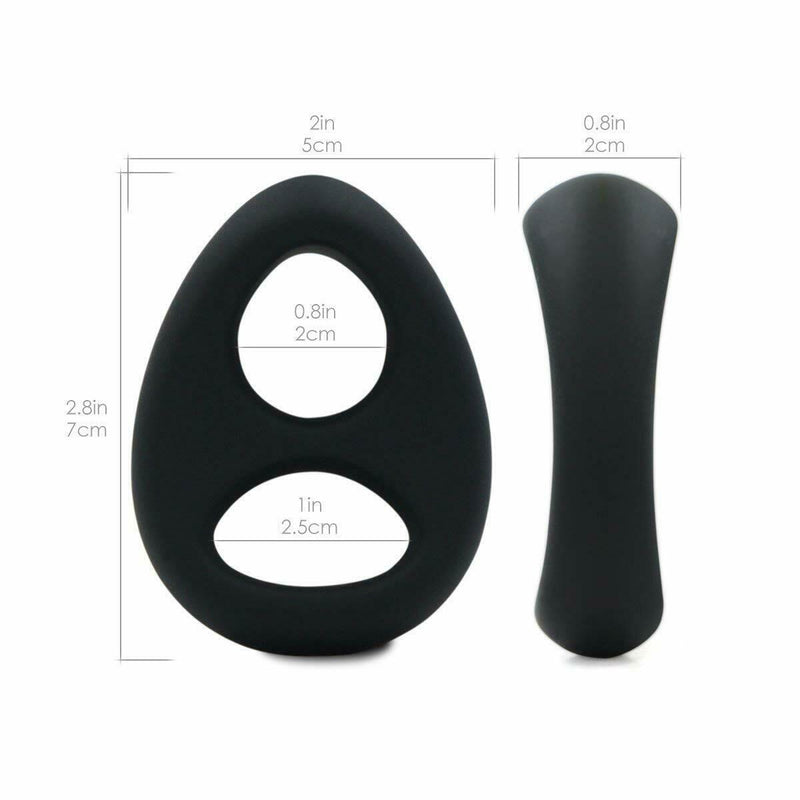Double Cock Ring Ball Strap Penis Ring Longer Ejaculation Men Sex Toy - Adult Toys