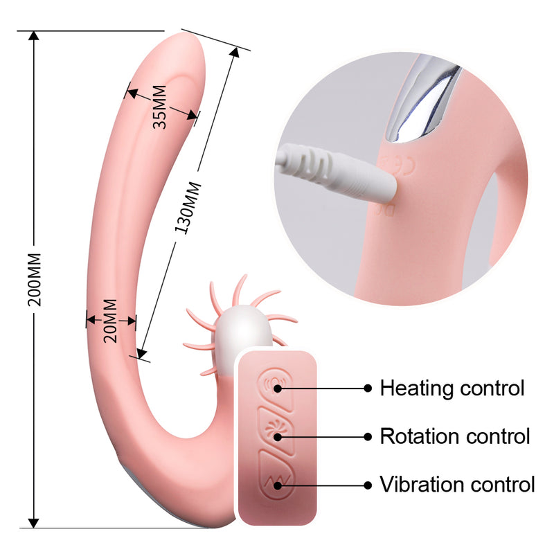 Safiman KYLIN Vibrator Heating Clitrois Licking Rotation Sex Toy - Adult Toys