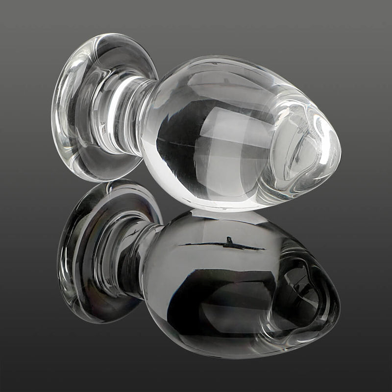 Glass Transparent Anal Plug Stimulation Sex Toy For Women Men