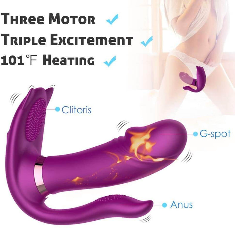 Remote Vibrator Heating Clitoris Dildo For Women - Adult Toys
