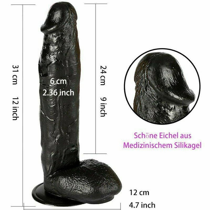 12 Inch Huge Dildo Powerful Suction Base Dong Soft Penis Toy - Adult Toys