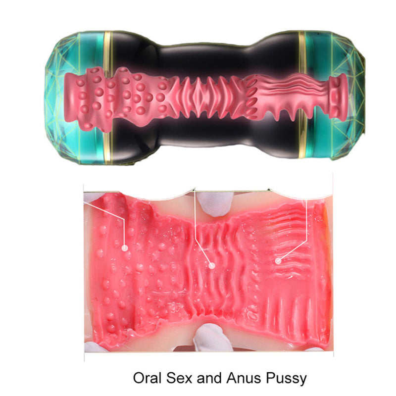 RENDS Japanese Dual Heads Masturbator Oral Pocket Pussy Asshole - Adult Toys