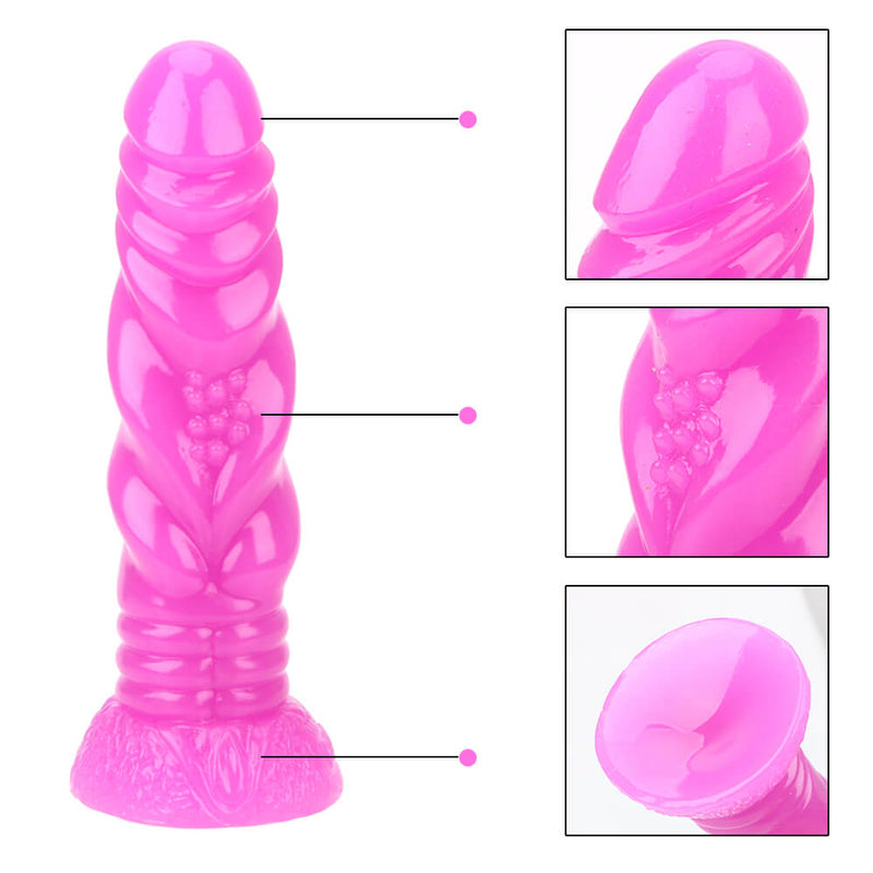 FAAK Large G-spot Stimulation Butt Plug Sex Dildo Suction Base - Adult Toys