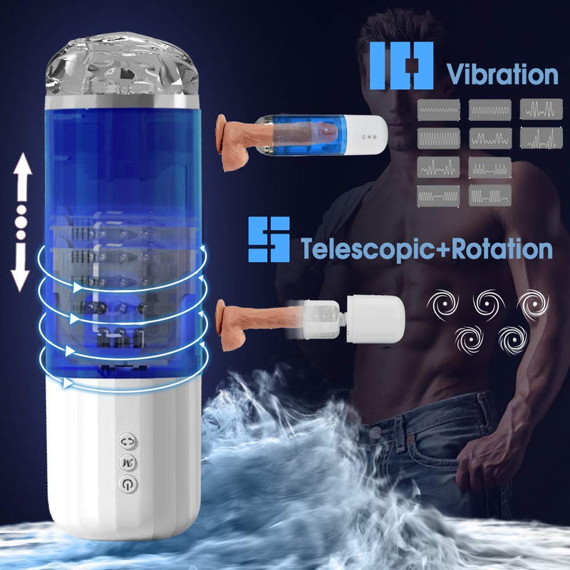 TSN Intelligent Rotation Male Masturbator Cup Penis Trainer For Men - Adult Toys