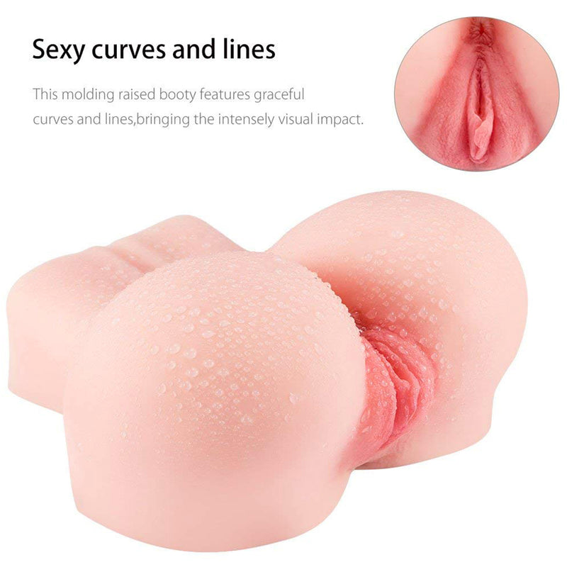 TPR Masturbator For Male 3D Realistic Big Ass Silicone Sex Dolls Vagina Pocket Pussy - Adult Toys