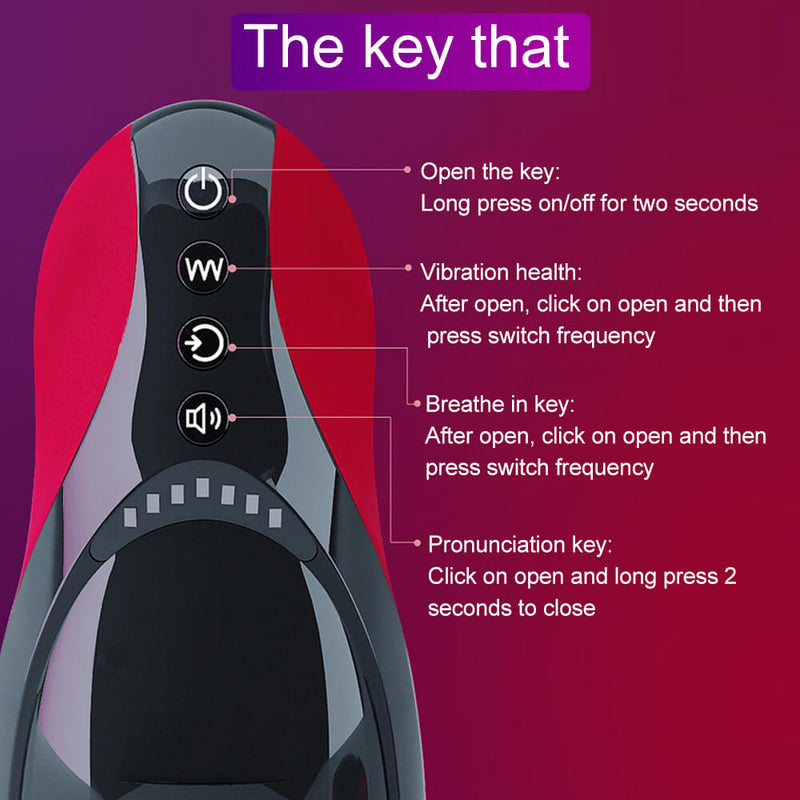 Oral Masturbator Heating Mouth Smart Induction Sex Toy