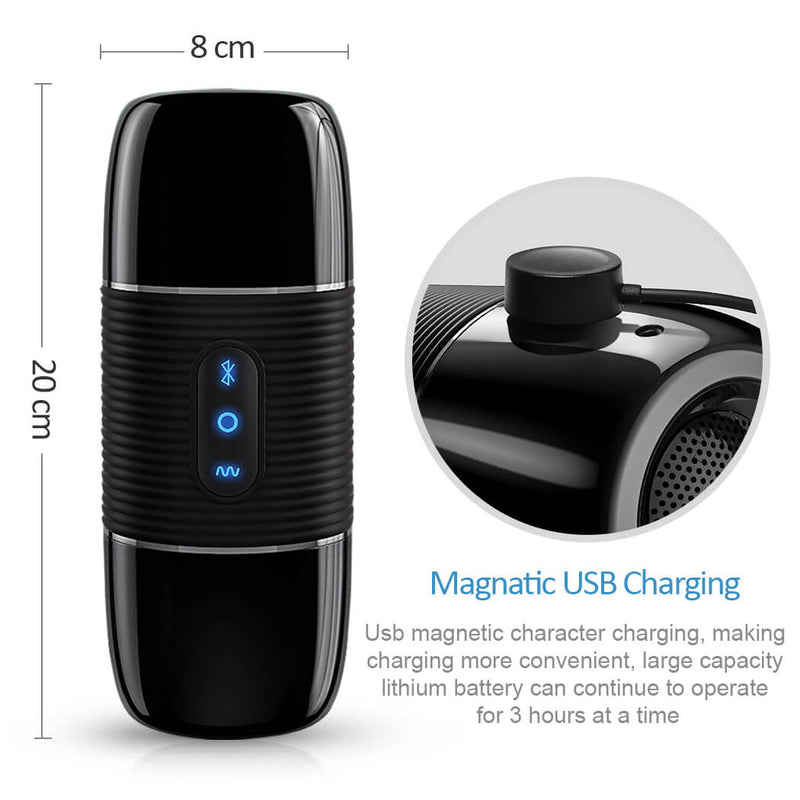 USB Charging 3D Stereo Sound Bluetooth Masturbator 8 Frequency Vibration Toy - Adult Toys