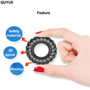 QUYUE 3D Spiral Penis Trainer Delay Ejaculation Tight Cock Ring - Adult Toys
