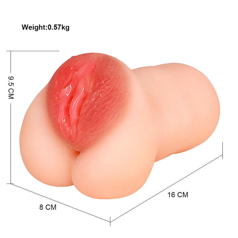 3D Double Hole Vagina Anus Pocket Pussy Waterproof Sucking Penis Adult Toy - Adult Toys