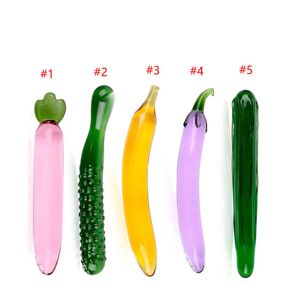 Pyrex Glass Dildo Fruit Vegetable Anal Plug Sex Toy