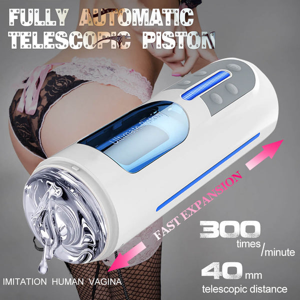 Leten A380 Ultimate Piston Automatic Telescopic Masturbation Cup - Adult Toy