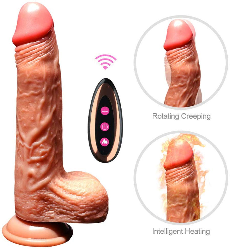 Flexible Silicone Dildo With Suction Cup - Adult Toys