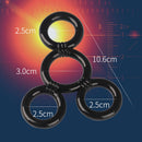 4 Connected Silicone Cock Rings - Adult Toys