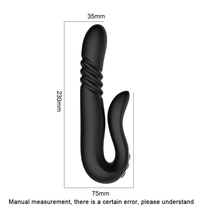 Automatic Telescopic Rotation Heating Vaginal Massage Vibrator - Adult Toys