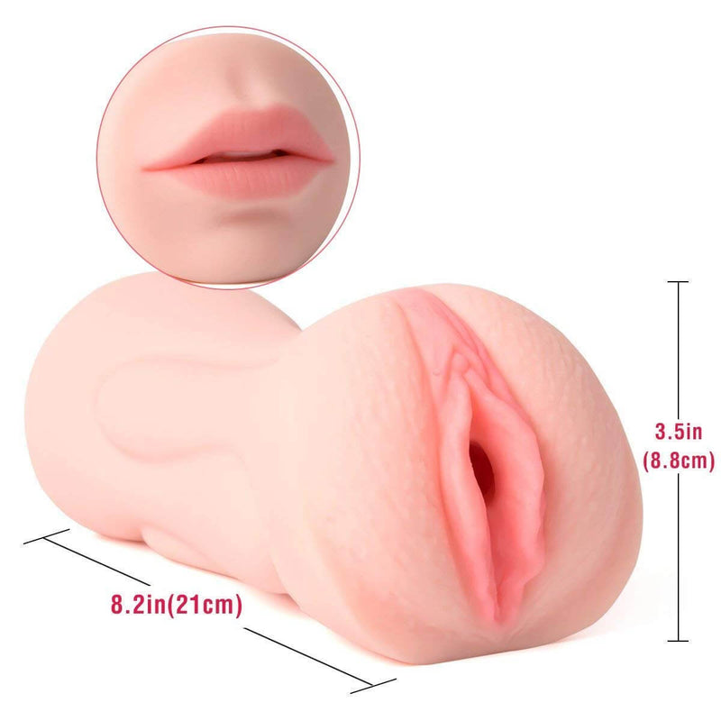 3D Realistic Oral Blow Job Deep Throat  Vagina Pocket Pussy Stroker - Adult Toys