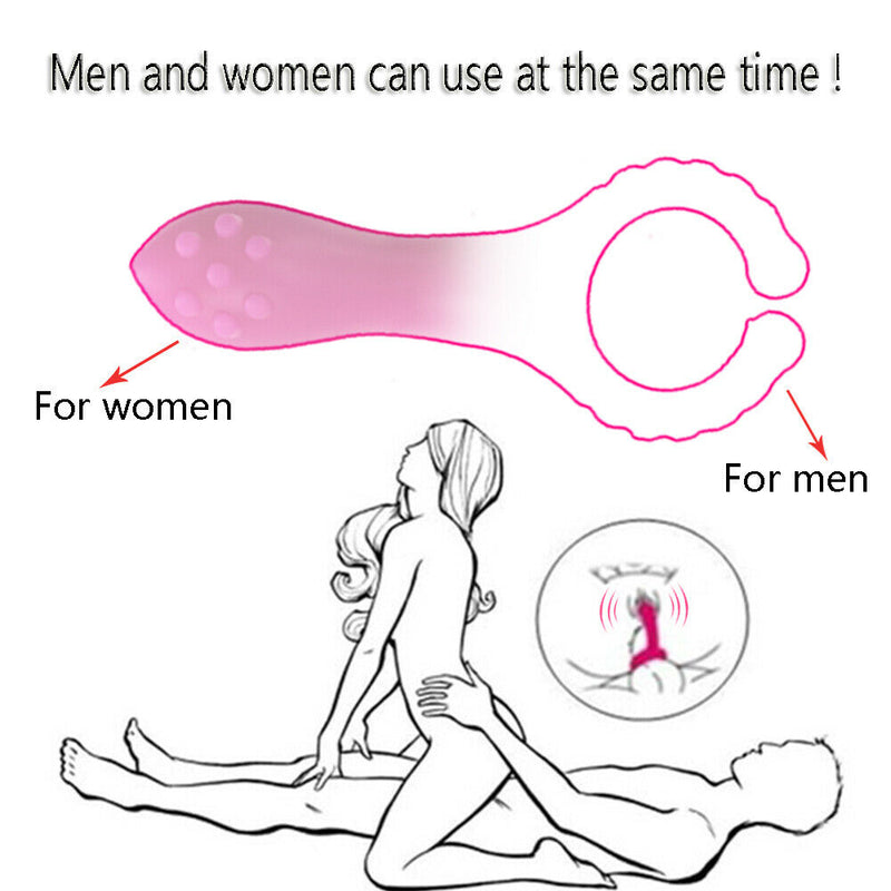 G-spot Stimulation Silicone Nipple Clip Cock Ring For Couples - Adult Toys