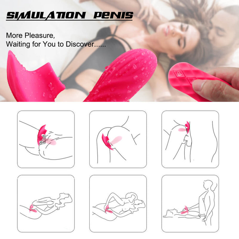 Wearable Vibrating Dildo For Women Clitoris Stimulator Remote Control Vibrator - Adult Toys