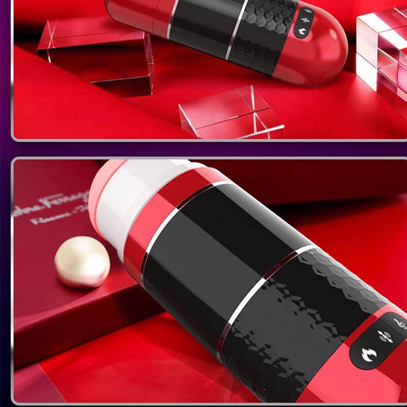 Interactive Male Masturbator VR Vibrating Thrusting Heating - Adult Toys