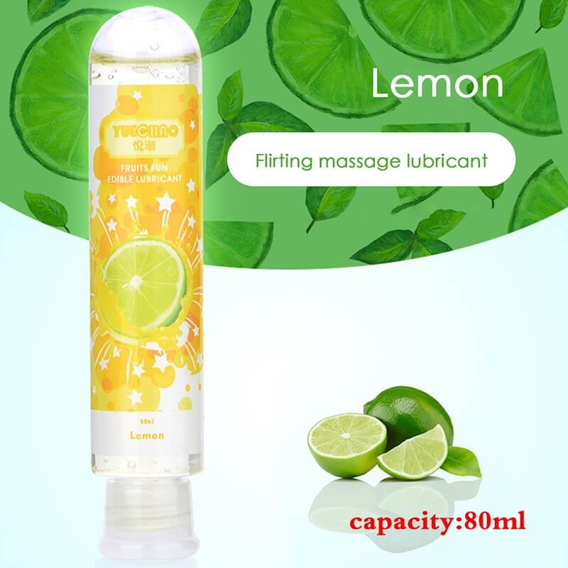 80ml Fruit Flavor Sex Body Massage Oil Water Based Lubricants - Adult Toys