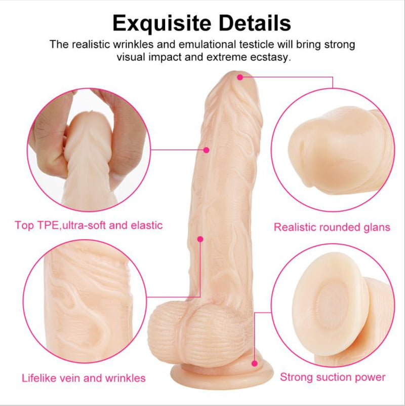Dildo Ball With Suction Realistic 360° Rotation Dildo Stimulator - Adult Toys