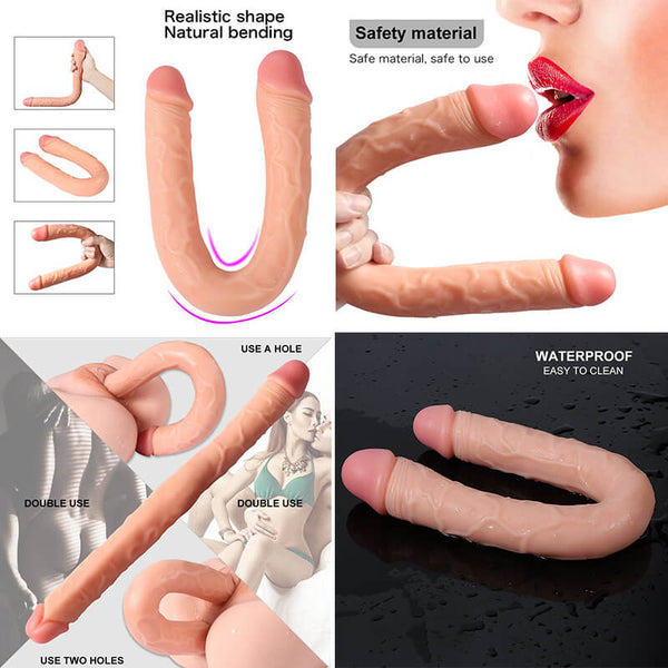 Silicone Double Dildo U Shaped Interactive Long Dildo