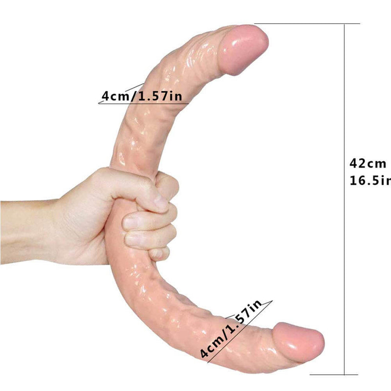 Double Ended Dildo Long U Shape For Gay Lesbian - Adult Toys