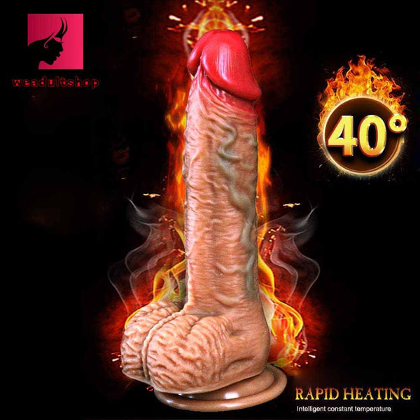 Automatic Telescopic Heating Vibration Dildo Realistic Remote Control Dildos - Adult Toy