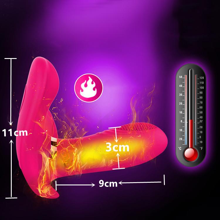 Strong Vibration Heating Dual Motors Vibrator Wearable Waterproof Toy - Adult Toys