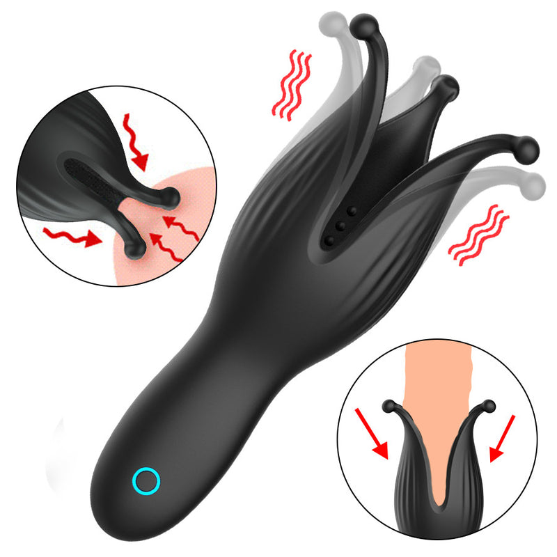 Deep Throat Penis Exerciser Nipple Stimulator Automatic Male Masturbator - Adult Toys