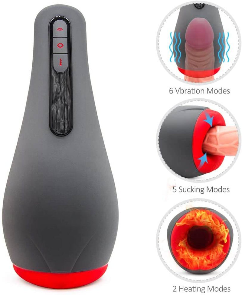 Otouch Intelligent Heating Oral Blowjob Penis Suck Vibrating Toy