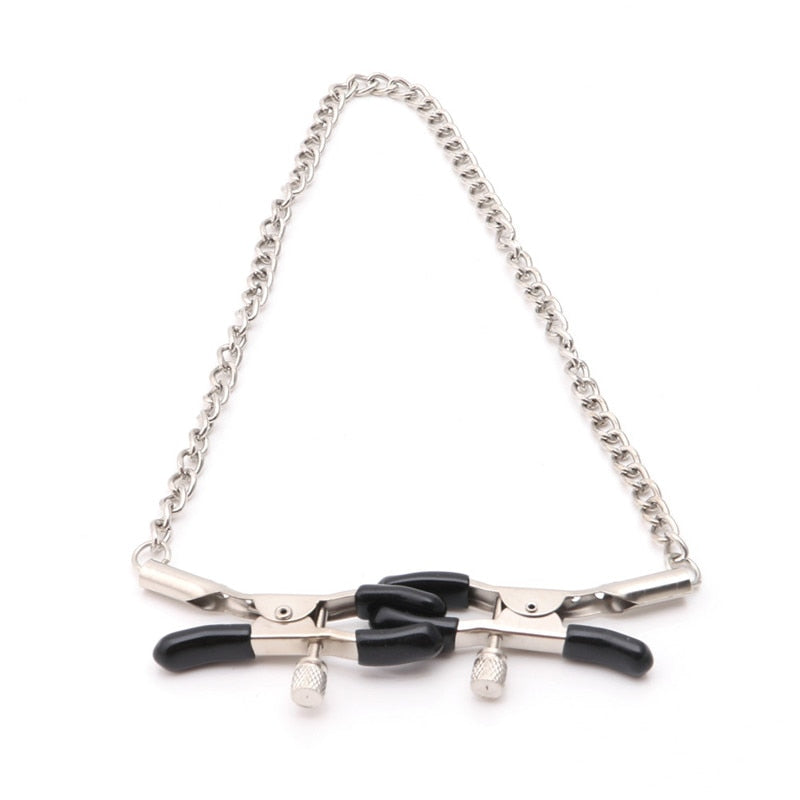 1 Pair 30cm Chains Nipple Clips - Adult Toy