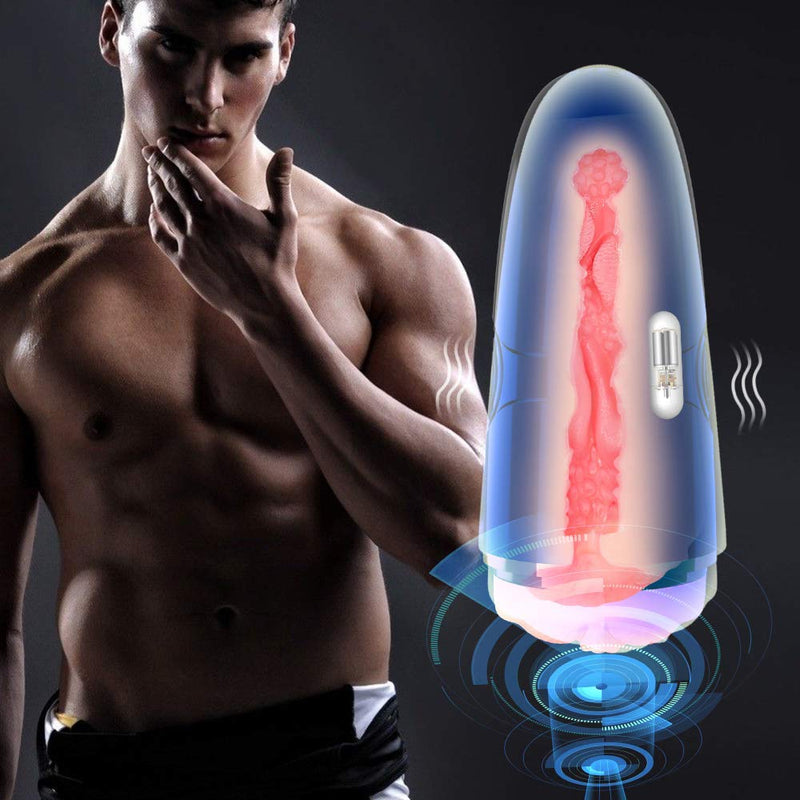 Detachable Pocket Pussy Sex Toy Vibrating Male Masturbator Cup - Adult Toy