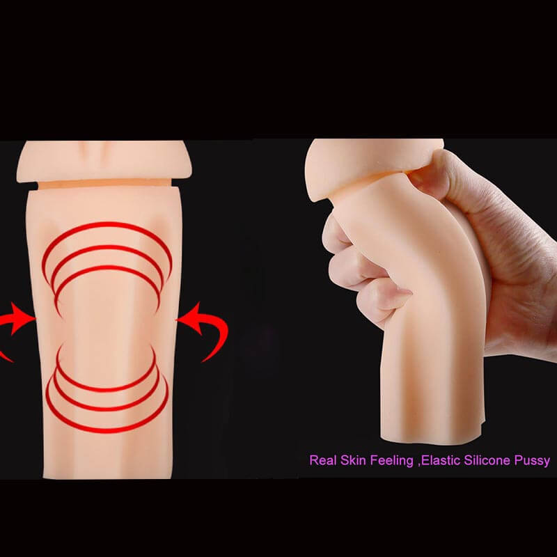 Realistic Pocket Pussy And Anal Penis Massaging Practice Sex Toy - Adult Toys