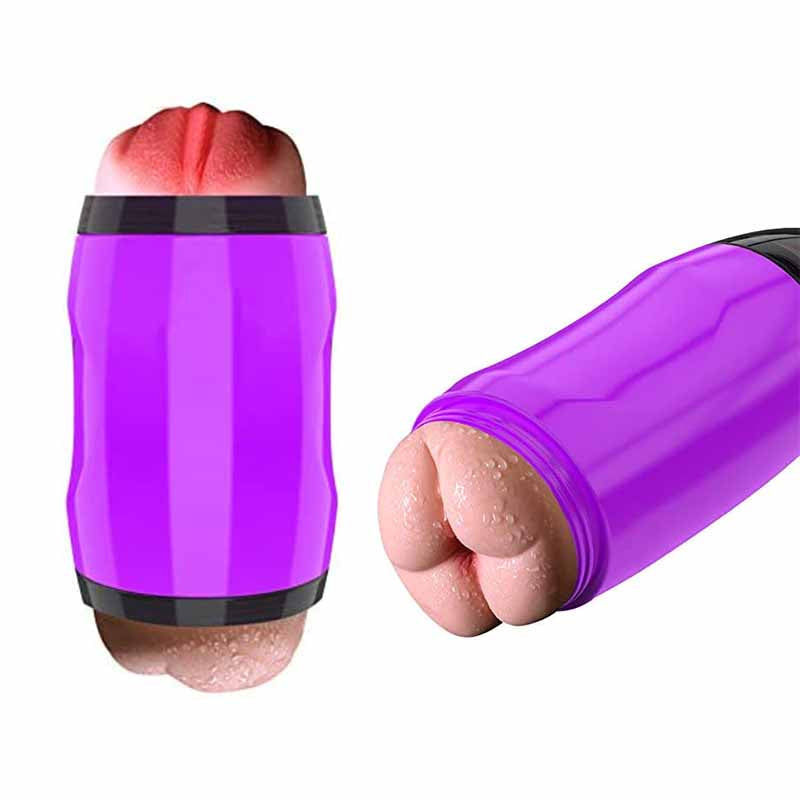2In1 Realistic Vagina Mouth Masturbator Hands-Free Suck Penis Pocket Pussy