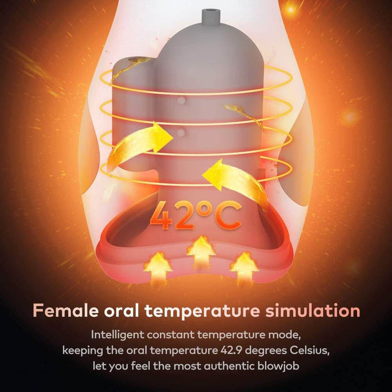 Heating Vibrating Male Masturbator For Penis Stimulation With Pump Suction